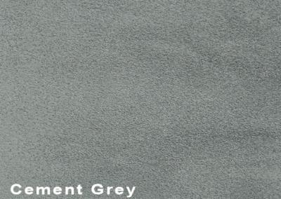 SUÈDE Cement Grey lederen vloeren en lederen wanden