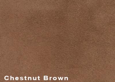 SUÈDE Chestnut Brown lederen vloeren en lederen wanden