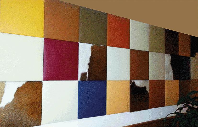 Lederen panelen in verschillende kleuren