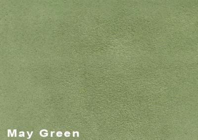 SUÈDE May Green lederen vloeren en lederen wanden