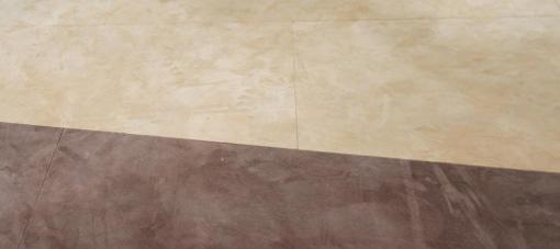 Een tweekleurige SUÈDE lederen vloer