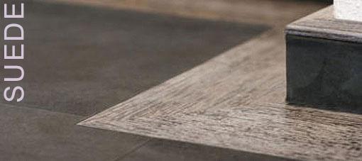 SUÈDE lederen vloer zwart met hout